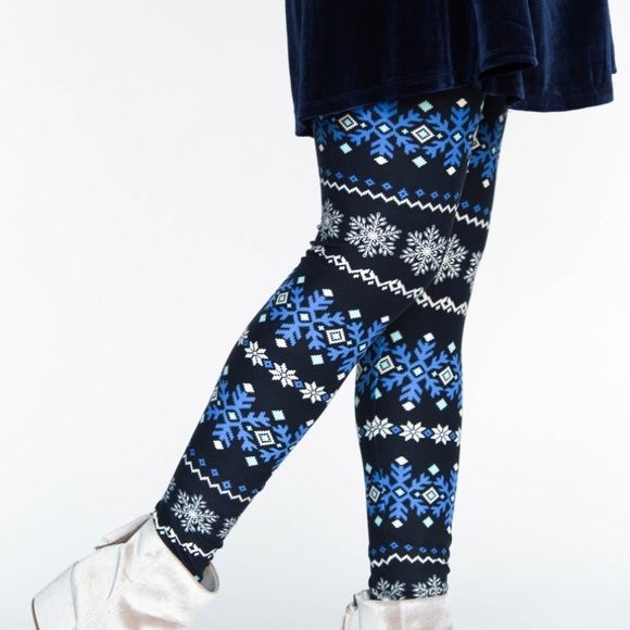 Agnes & Dora Pants - Icy Fair Isle Leggings
